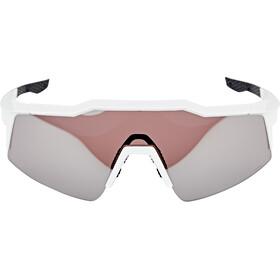 100% Speedcraft Lunettes Small, matte white hiper silver/HD multilayer mirror